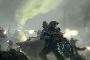 war video games concept art halo