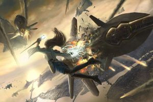 warrior concept art women war artwork spaceship fantasy art