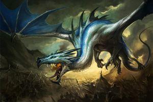 warrior dragon fantasy art war