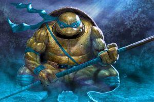 warrior leonardo teenage mutant ninja turtles