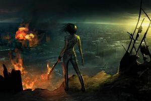 warrior women artwork fantasy art apocalyptic concept art