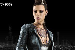 watch_dogs women people piercing video games tattoo digital art