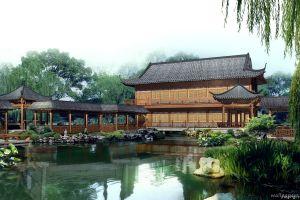 water building japan garden