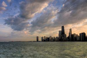 water cityscape chicago skyline