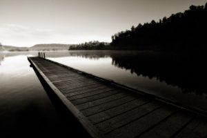 water dark lake monochrome reflection nature landscape pier sepia