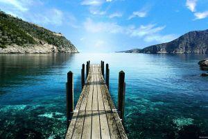 water lake greece