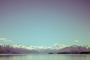 water landscape nature lake sky mountains clear sky