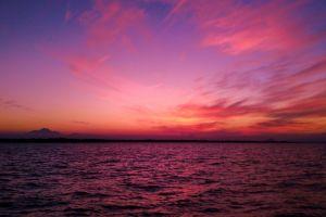 water nature sunset sky