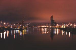 water ports cityscape hamburg