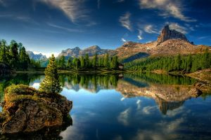 water reflection landscape nature mountains