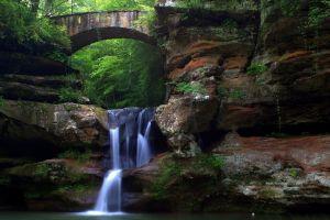 water rock nature waterfall landscape