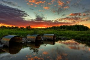 water sky reflection clouds landscape nature