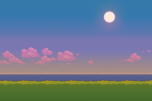 water sun clouds grass
