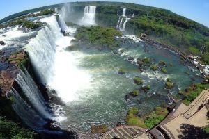 waterfall iguazú waterfalls nature