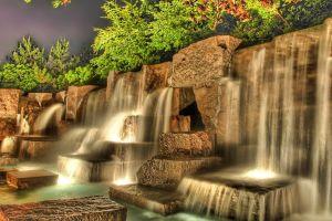 waterfall water stones