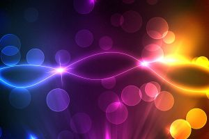 waveforms colorful lines digital art shapes