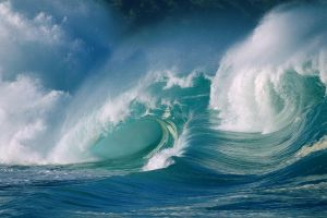 waves nature sea water