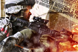 weapon call of duty soldier call of duty modern warfare 2 video games