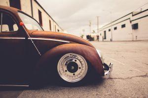 wheels vehicle rust outdoors volkswagen beetle volkswagen