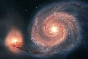 whirlpool galaxy space art digital art space stars galaxy