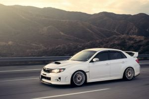 white cars impreza subaru road landscape car vehicle