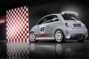 white cars red reflection numbers vehicle car abarth