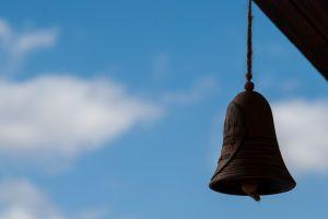 wind chimes depth of field sky bell