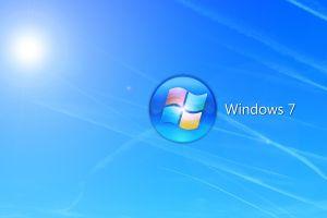 windows 7 numbers gradient blue background