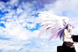 wings anime girls anime tachibana kanade angel beats!