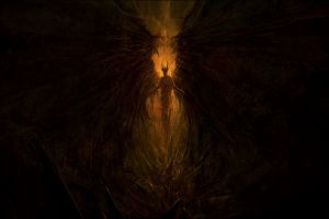 wings fantasy art dark fantasy chris cold brown demon dark devils