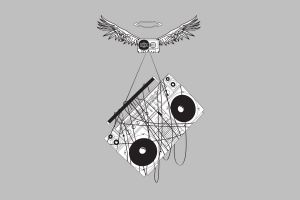 wings minimalism boombox music stereos