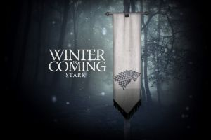 winter is coming game of thrones a song of ice and fire house stark sigils