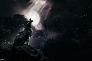wolf abstract digital art