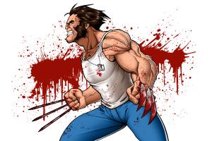 wolverine x-men blood stains