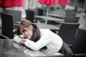 women asian model smiling
