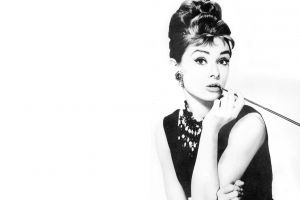 women audrey hepburn monochrome actress movies breakfast at tiffany's