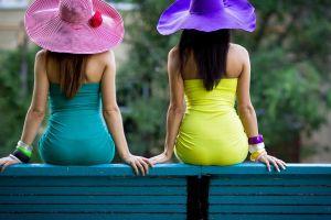 women back bracelets sitting