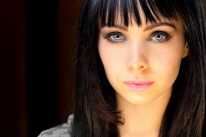 women bangs model lost girl ksenia solo long hair blue eyes