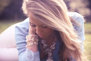 women blonde necklace face bracelets women outdoors
