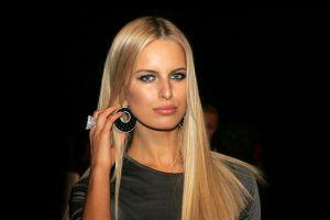 women blonde rings karolina kurkova model long hair green eyes victoria's secret