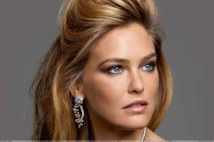 women blue eyes freckles model face blonde portrait bar refaeli