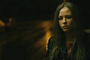 women brunette leather jackets ingrid olerinskaya blurred