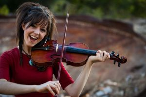 women brunette red clothing lindsey stirling violin