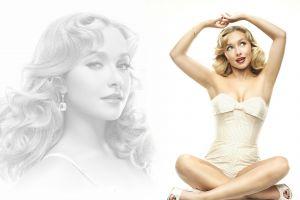 women celebrity looking up actress hayden panettiere collage blonde