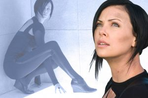 women charlize theron aeon flux movies actress collage black hair science fiction