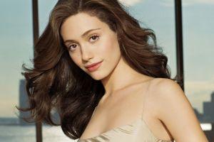 women emmy rossum hazel eyes face brunette actress portrait lingerie