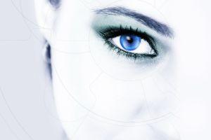 women eyes digital art blue eyes