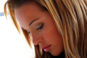 women face actress emily scott profile blonde