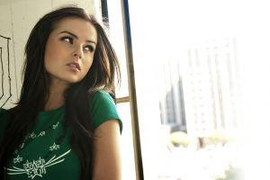 women face brunette long hair model