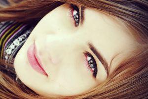 women face brunette model